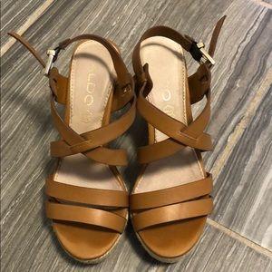 Aldo platform sandals size 6